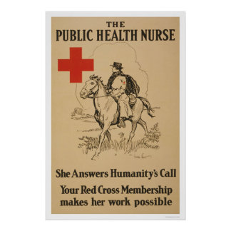 Public Health Nurse - She answers humanity's call Poster
