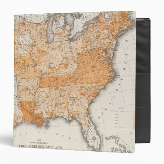 Public Indebtedness, Statistical US Lithograph 3 Ring Binder