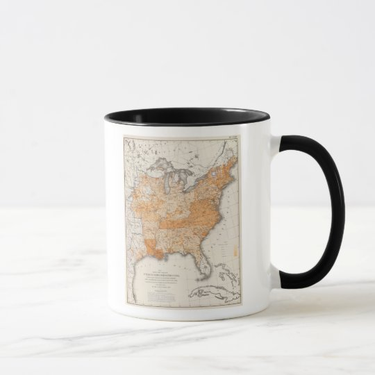 Public Indebtedness, Statistical US Lithograph Mug