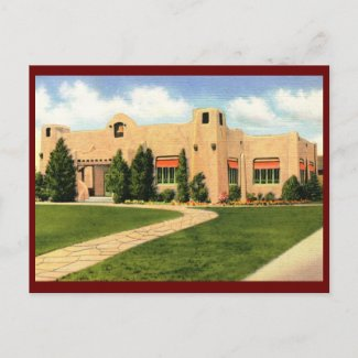 Public Library, Albuquerque, NM Vintage postcard