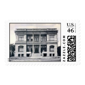 Public Library, Appleton, Wisconsin, c1905 Vintage stamp