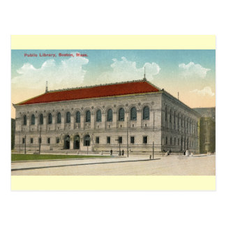 Public Library Boston 1911 Vintage Post Card