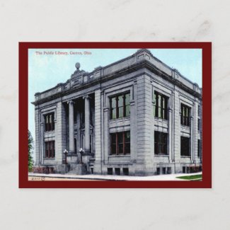 Public Library, Canton, Ohio Vintage postcard