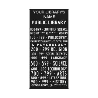 Public Library Dewey Decimal on canvas