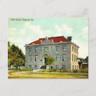 Public Library, Hammond, Indiana Vintage 1911 postcard