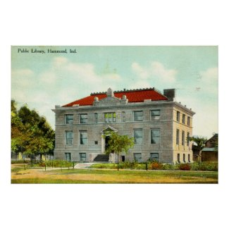 Public Library, Hammond, Indiana Vintage 1911 print