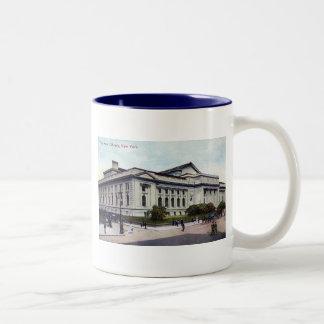 Public library new york city 1915 vintage mugs