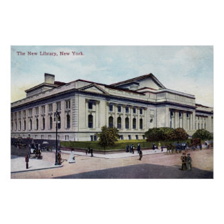 Public Library, New York City 1915 Vintage Posters