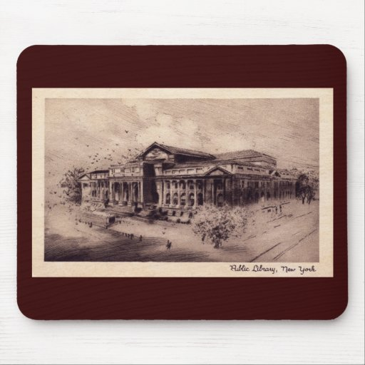 Public Library, New York City Vintage Mouse Pad