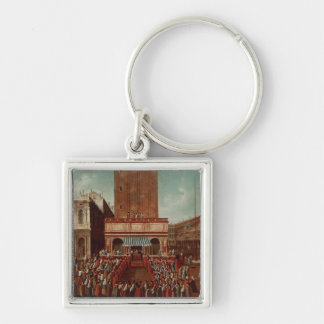 Public Lottery at Loggetta, the Piazza San Keychain