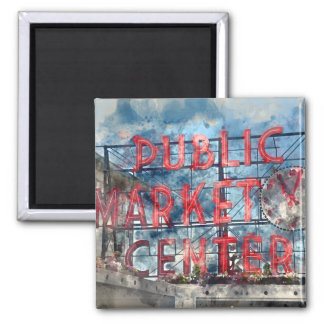 Public Market Center in Seattle Washington Magnet