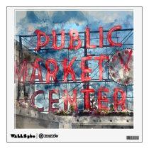 Public Market Center in Seattle Washington Wall Sticker