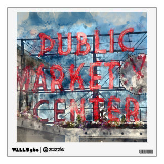 Public Market Center in Seattle Washington Wall Sticker