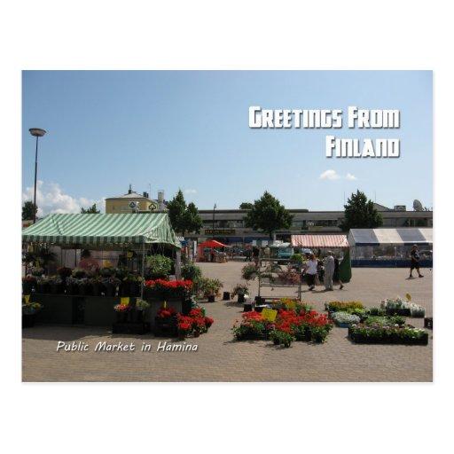 Public Market in Hamina, Finland Post Cards