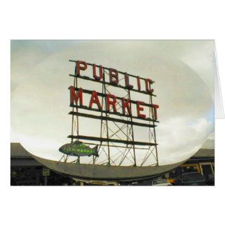 Public Market in Seattle, WA Card