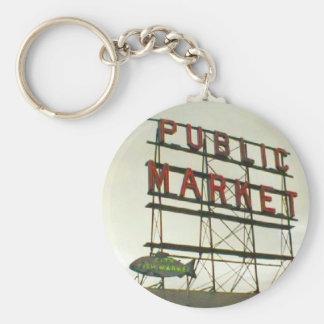 Public Market in Seattle, WA Key Chain