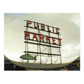 Public Market in Seattle, WA Postcard