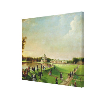 Public merry-making in Ostankino, 1840s Canvas Print
