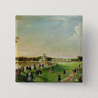 Public merry-making in Ostankino, 1840s Pinback Button