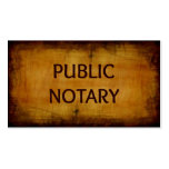 Public Notary Antique Brushed Wood Business Card