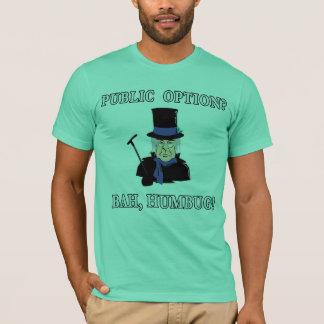Public Option? Bah, Humbug!  Scrooge T shirt