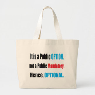 Public Option Canvas Bag