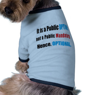 Public Option Dog Tee Shirt