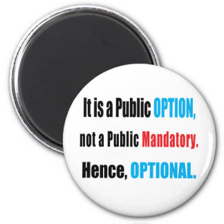 Public Option Fridge Magnet