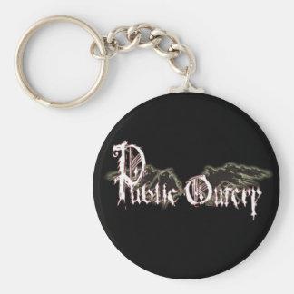Public Outcry Keychain