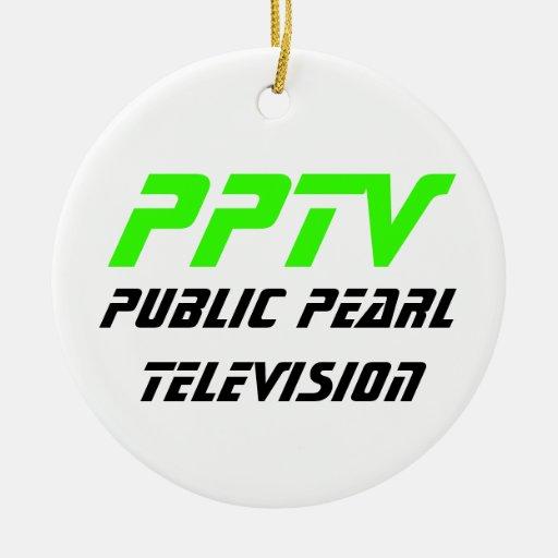 Public Pearl Television Ceramic Ornament