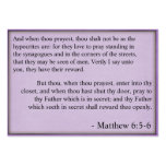 Public prayer fact cards large business cards (Pack of 100)