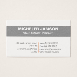Public Relation business cards