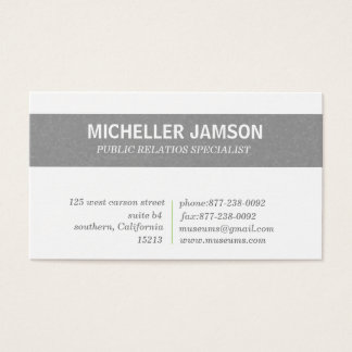 Public Relation business cards Green