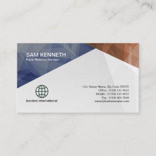 Public relations business cards zazzle public relations colorful geometric business card colourmoves