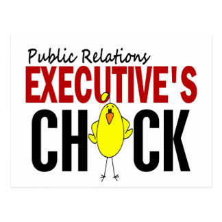 PUBLIC RELATIONS EXECUTIVE'S CHICK POSTCARD