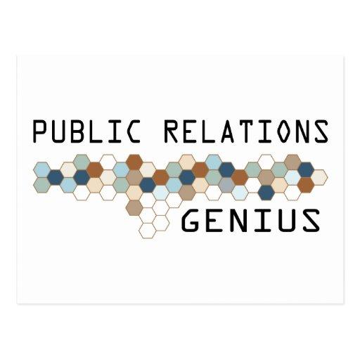 Public Relations Genius Postcard