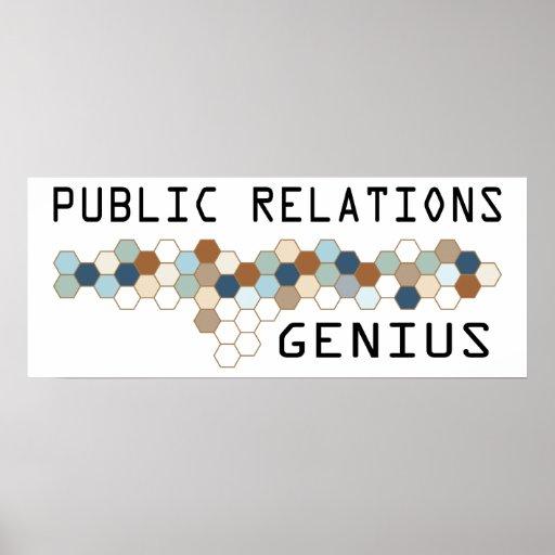 Public Relations Genius Poster