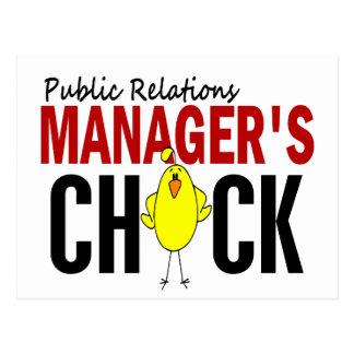 PUBLIC RELATIONS MANAGER'S CHICK POSTCARD
