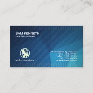 Public relations business cards zazzle public relations stunning geometric business card colourmoves