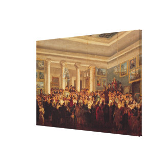Public Sale at the Hotel Bullion Canvas Print