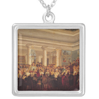 Public Sale at the Hotel Bullion Square Pendant Necklace