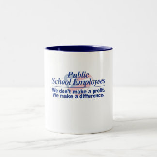 Public School Employees Make a Difference Mug