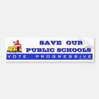 Public Schools Bumper Sticker