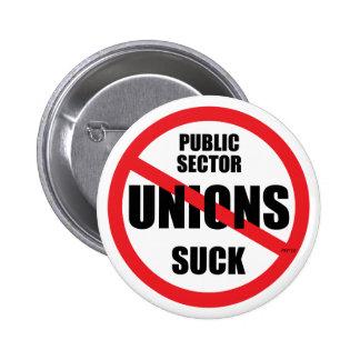Public Sector Unions Suck Pinback Button