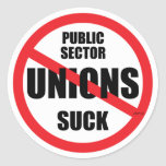 Public Sector Unions Suck Sticker