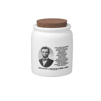 Public Sentiment Nothing Can Fail Lincoln Quote Candy Jar