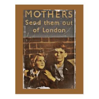 "Public Service ""Children During Blitz"" Postcard"
