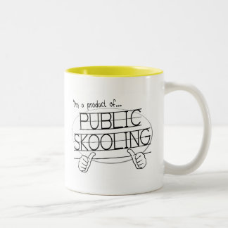 public skooling Two-Tone coffee mug