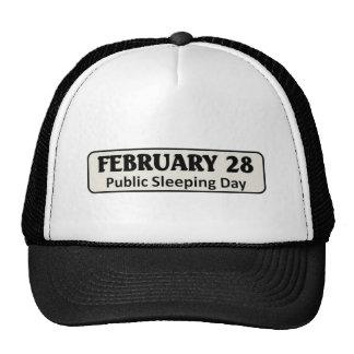 Public sleeping day trucker hat