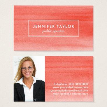 Professional Business Public Speaker Business Card Template